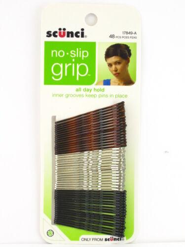 SCUNCI NO SLIP GRIP BOBBY PINS 48 PCS. 17849-A