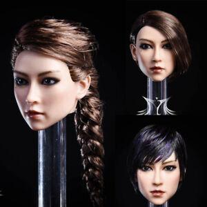 "YMTOYS 1//6 Female Head Sculpt Carved Head Model Figure F//12/"" Action Body Figure"