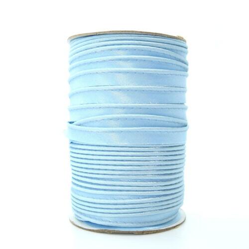 10mm Blue Satin Edging Trimming Piping Ribbon Trim Lame Sewing Crafts 1m S040