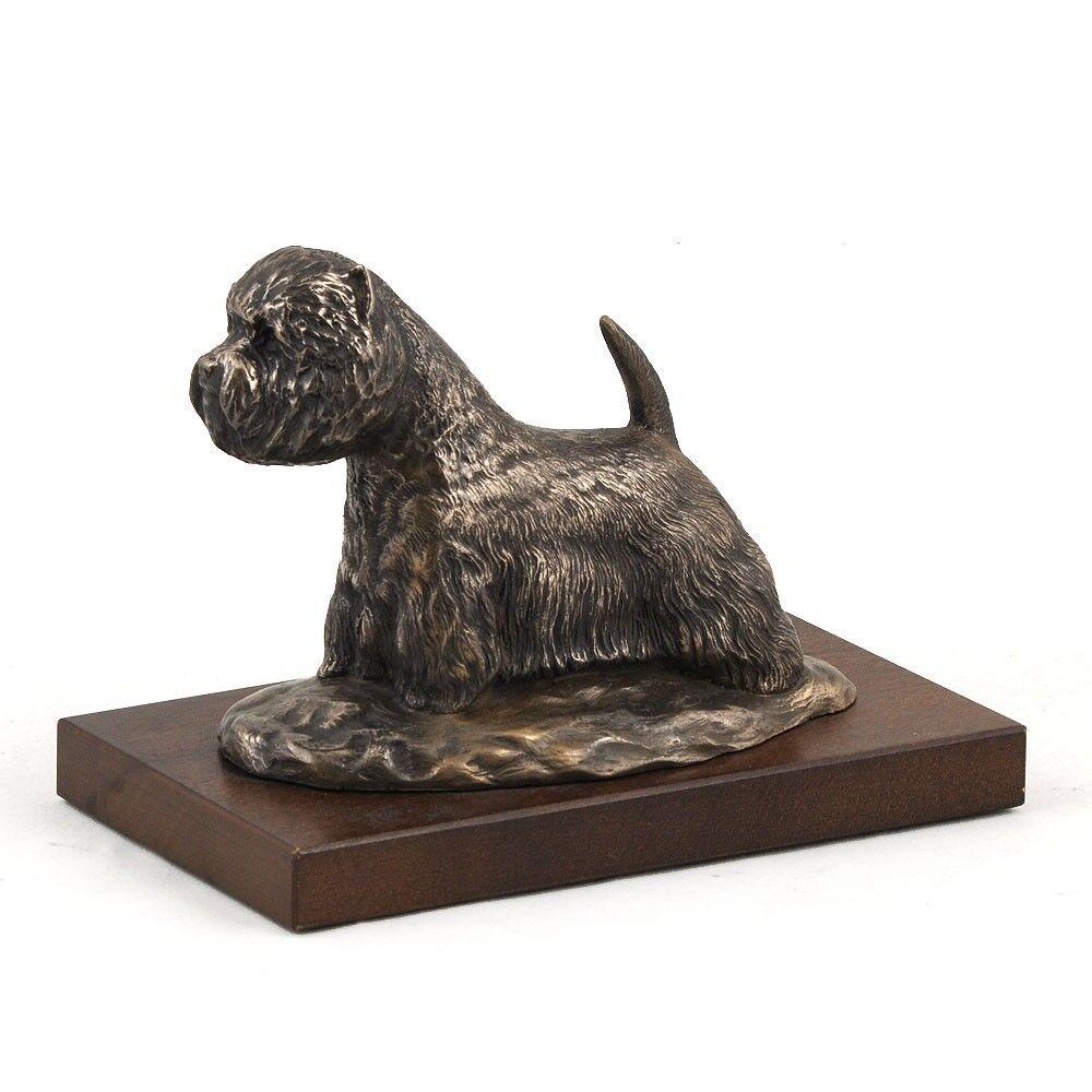 West Highland Weiß Terrier - busto statua di cane su base di legno, Art Dog IT