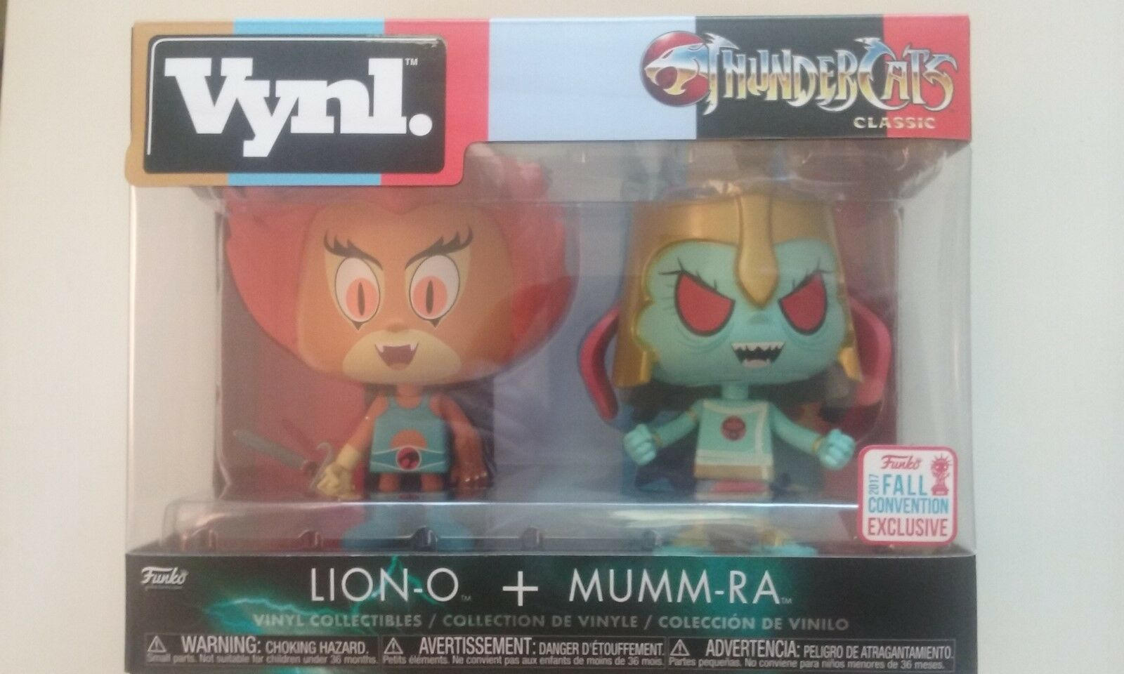 Funko VYNL pop cartoons THUNDERCATS LION-O MUMM-RA pack exclusive