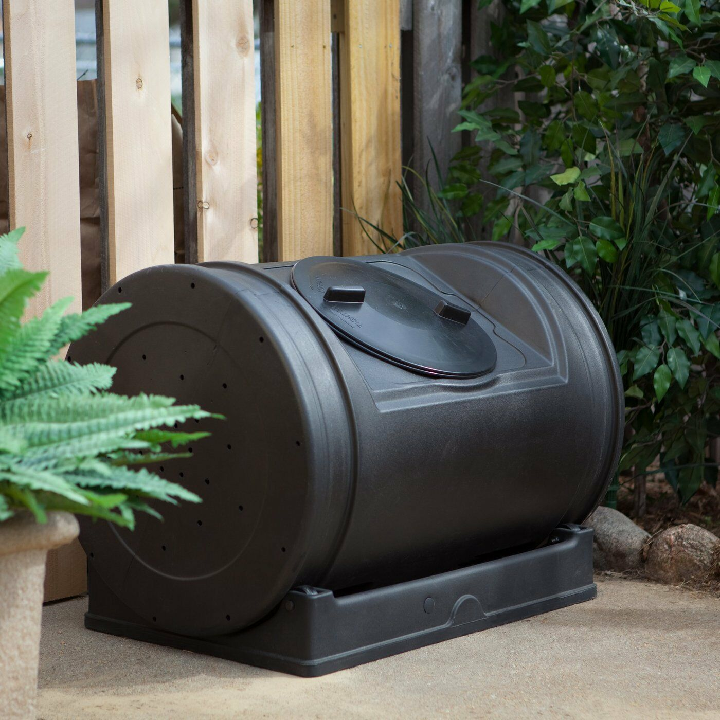 Diy Compost Bin Apartment: Compost Tumbler Garden Waste Bin Grass Trash Barrel