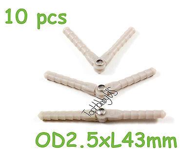 10pcs Nylon Pivot /& Round Hinges D2xL33mm RC Plane Airplane US SELLER//SHIP