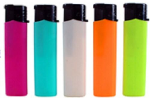 Fluro-refillable-large-lighters-lot-of-five-assorted-colours-great-quality