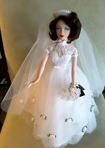1995 Ashton Drake Mel Odom Gene Marshall Doll Monaco Wedding Dress