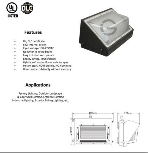 120W LED Wall pack 5000K UL DLC 12500 LUMENS 320WATT REPLACEMENT US SELLER!!