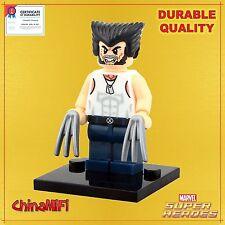 Wolverine minifigure white T-shirt Marvel Superhero - X-Men -Certified© Quality