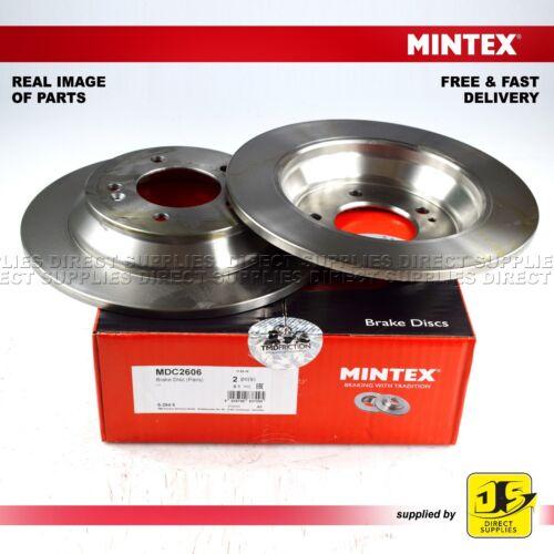 2X Mintex Arrière Disque De Frein MDC2606 KIA CARENS IV 1.6 1.7 CRDi 2.0 GDI 2.0 LPI MPI