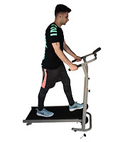 Folding Portable Manual Treadmill Walking Running Fitness Machine + Counter