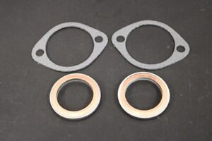 Yamaha-RD350LC-Exhaust-Gaskets-x2-Copper-Steel-x2-Fibre-Paper-All-Years