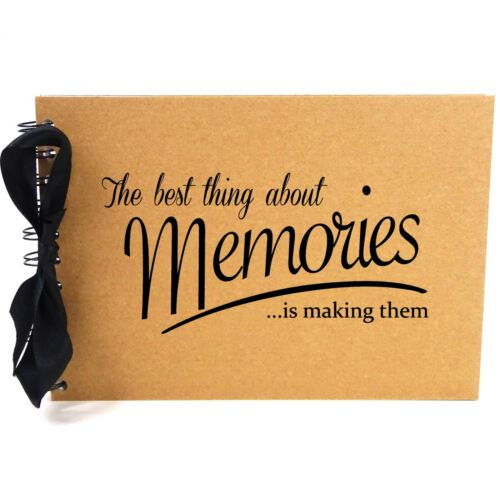 A5 Páginas Blancas Álbum de recortes mejores recuerdos en blanco álbum de fotos Cinta
