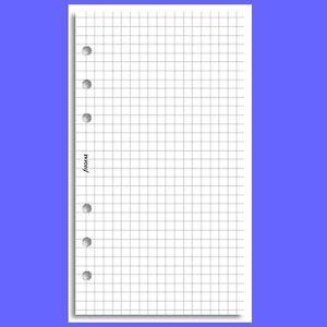 Notepaper Refills Filofax Quadrille A5 White