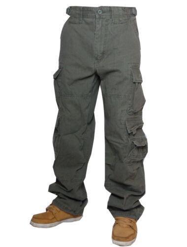 Jet Lag pantalon cargo 007 security décalage horaire pantalon Jeans Cargo Olive vert