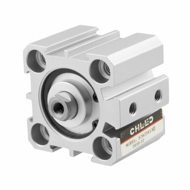 Compact Thin Cylinder SDA 25mm Bore 20mm Stroke Double Action M5X0.8 adapter