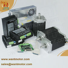 【German Ship& Free Ship】3Axis Nema34 Stepper Motor 1232oz,6A,118mm CNC Foam Mill