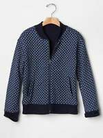 Gap Heart Print Varsity Jacket Size M 8 L 10 Xl 12