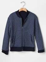 Gap Heart Print Varsity Jacket Size M 8 L 10 Xl 12