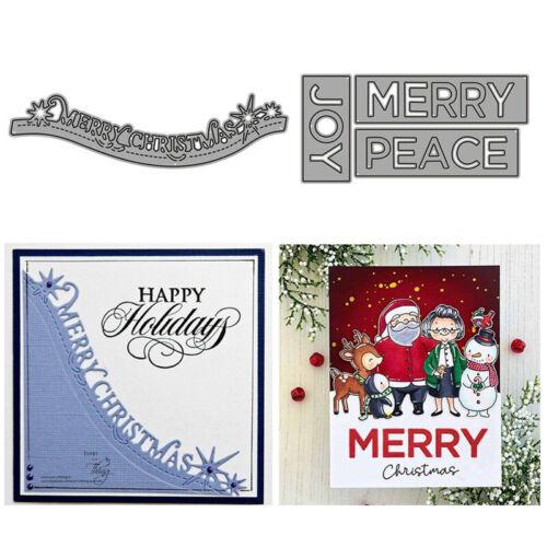 Metal Cutting Dies Die Cut Stencil Embossing Folder Scrapbooking Album Christmas