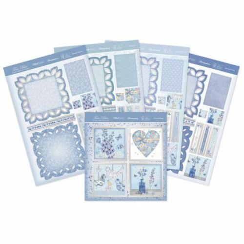 Hunkydory-True Blue elegante borde caballete Tarjeta-Trueblue 104