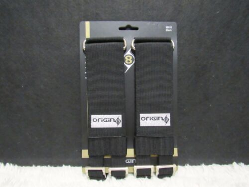 NEW Origin8 ProPulsion Series Pro-Grip Double Bike Pedal Toe Straps Black