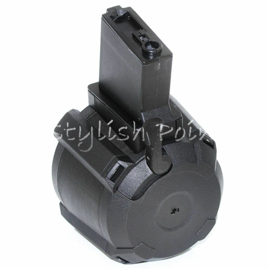 Airsoft Web BATTLEAXE 1400rd Sound Control Electric Drum Magazine For M4 M16 AEG