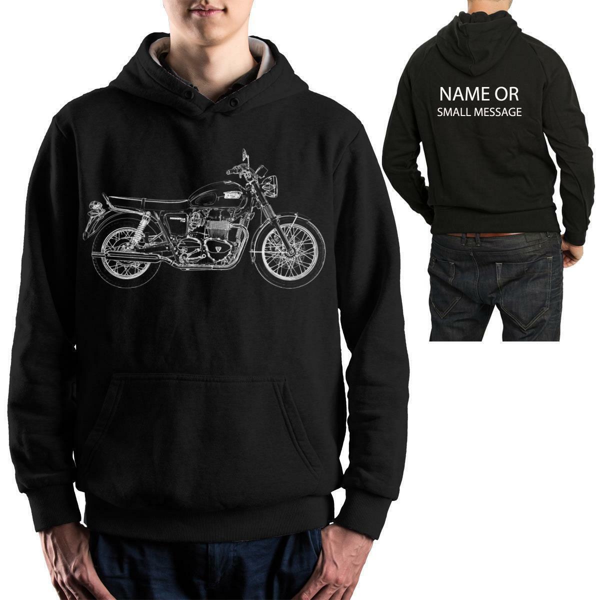 Stencil BONNEVILLE T100 Motorbike Biker Hoodie Birthday Gift
