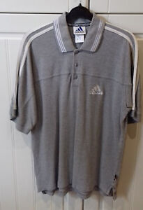 size-36-38-cottonmix-GREY-ADIDAS-the-brand-with-the-3-stripes-POLO-TOP