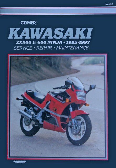 Clymer motorcycle repair manual M452-3 Kawasaki GPZ500S EX500 (1985-1990)