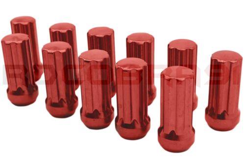 "24 Pc 12x1.5 Red Spline Lug Nuts Kit 4 Pc Toyota 2/"" Hub Centric Wheel Spacers"