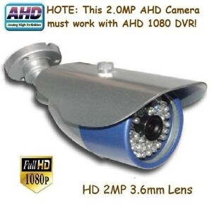 """151C Sunvision AHD 2.0MP 1080P 1//3/"""" In//outdoor Camera 6IR-28mil 2MP 3.6mm Lens"""