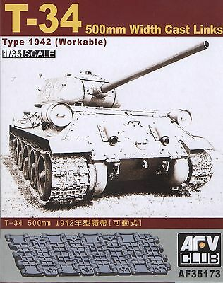 AFV Club 1/35 AF35173 WORKABLE Track T-34 500mm Width Cast Links Type 1942