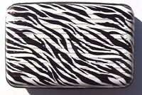 Wallet Business Id Credit Card Holder Pocket Aluminum Metal Case Box Zebra