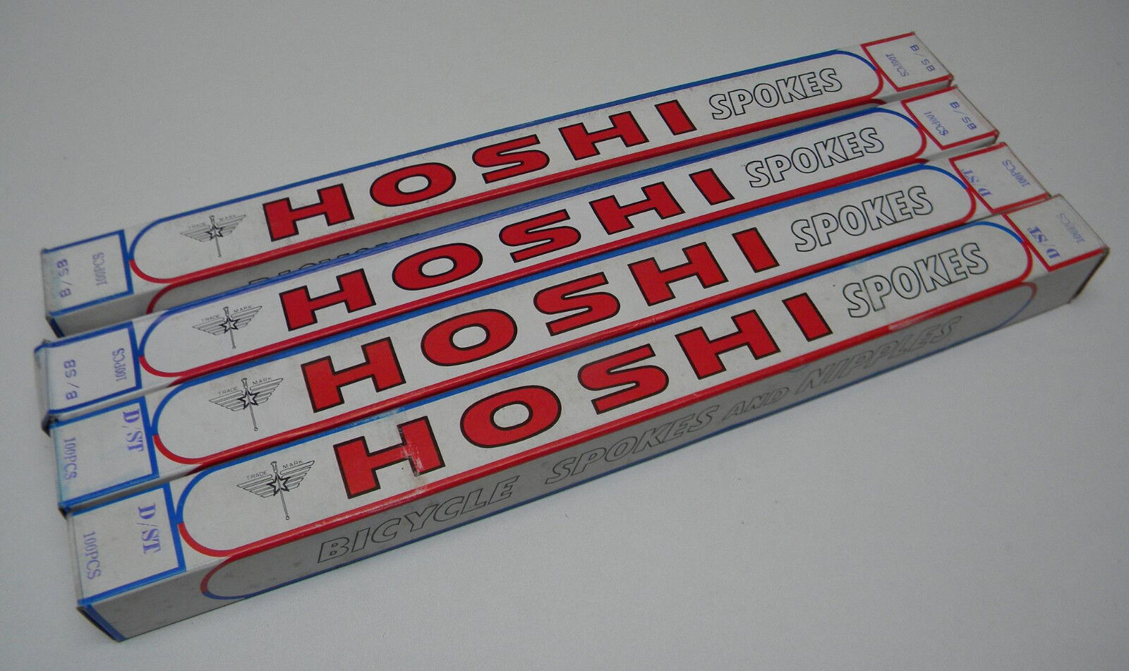 Vintage Hoshi Stainless Butted Spokes 298 300 303 306 308mm 100pcs (121)