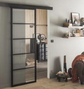 Details about Industrial Interior Sliding Door 730mm