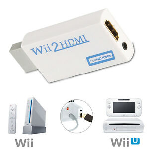 Wii To HDMI Adapter Converter Audio + Video Output Full HD 720P 1080P HDTV. 0105
