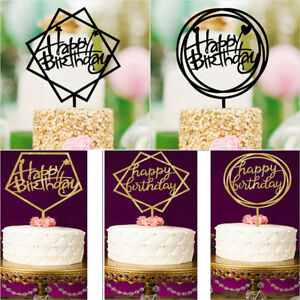 Image Is Loading Love Happy Birthday Cake Topper Card Acrylic