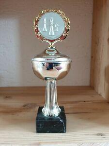 Pokal   Schachpokal mit Deckel   silber   ohne Gravur