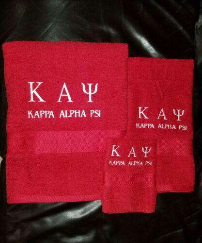 Kappa Alpha Psi Embroidered Towel Set