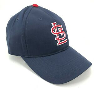 St-Louis-Cardinals-Outdoor-Cap-Adjustable-Hat-Curved-Brim-Blue-Red-White-Logo