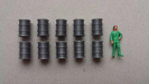 10-futs-gris-bidon-1-87-HO-decor-train-diorama-entrepot-industriel-quai-maquette