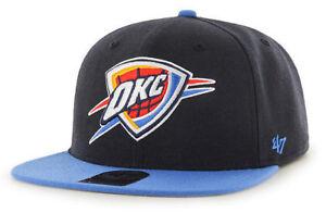 584815328430d OKLAHOMA CITY OKC THUNDER NBA VINTAGE SNAPBACK 2-TONE CAP HAT NEW ...