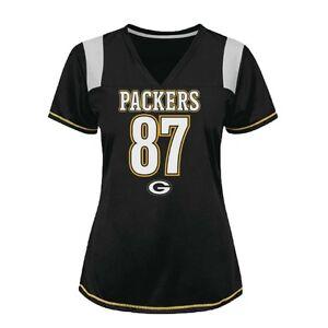 4f86202dbe0 NFL GREEN BAY PACKERS WOMENS #87 JORDY NELSON BLACK JERSEY SMALL (xs ...