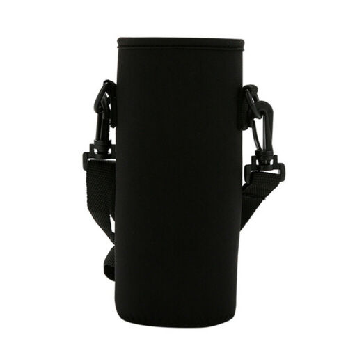 PORTABLE WATER BOTTLE CARRIER INSULATED CUP COVER BAG POUCH HOLDER WITH STRAP F