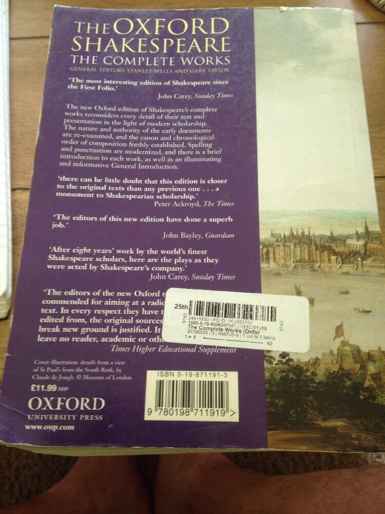 The Complete Works By William Shakespeare Gary Taylor And Stanley W