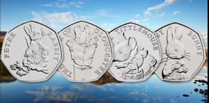 British-Hunt-2018-Complete-Beatrix-Potter-UK-coin-set-50p-Set-Gift-Flopsy-Peter