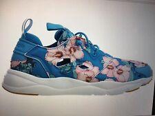 REEBOK FURYLITE FG -BLUE  W/Pink FLOWERS -WOMEN'S SNEAKERS SIZE 7.5 BD1097
