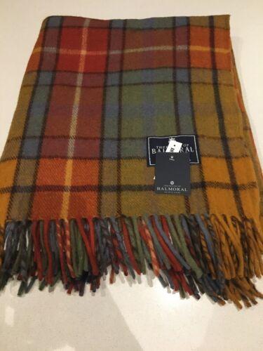 House Of Balmoral Antique Buchanan  Rug Blanket In Scotland Tartan Check
