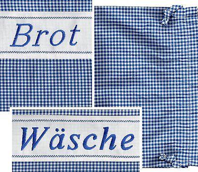 Brotbeutel Wäschebeutel Wäschesack Stickerei Landhaus Cottagestyl Baumwoll-Misch