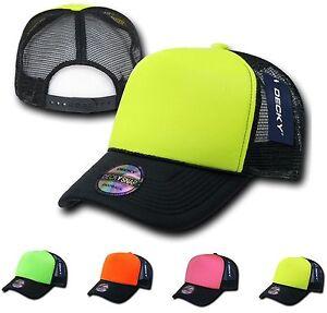 28e6d7247df 15 Lot Decky Blank Foam Neon Mesh Trucker Hats Caps Snapback ...