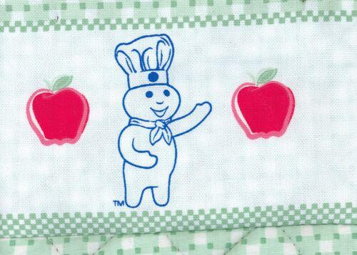 NWT Two 2005 Pillsbury Doughboy Mint Green//Multi w Red Apples 2